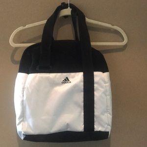 Black and white Adidas Gym bag
